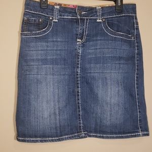 Hot to Trot Blue Demin Skirt Size S